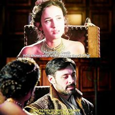 """""""They're here to destroy The Dark One. That won't be easy"""" - Guinevere and King Arthur #OnceUponATime"""