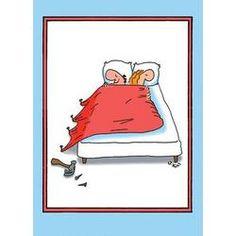 Nail Bed Funny Cartoon Happy Anniversary Card