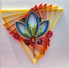 This artwork of paper quilling is transform from line art. - Quilling - Pregnant Tips Arte Quilling, Quilling Work, Origami And Quilling, Quilling Flowers, Origami Art, Paper Flowers, Quilled Roses, Origami Ideas, Paper Quilling Tutorial