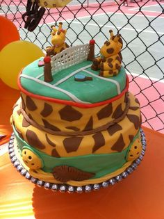 This custom pickleball cake was for a baby shower at Castle Creek courts in Escondido, CA...