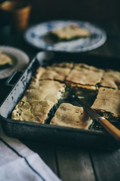 "Nothing is tastier than using a combination of natural superfoods in a traditional Greek wild greens pie - also referred to as a ""hortopita"". Greek Recipes, Raw Food Recipes, Pie Recipes, Cooking Recipes, Macedonian Food, Food Tags, Mediterranean Recipes, Food Inspiration, Food Porn"