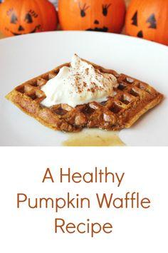 The Best Healthy Pumpkin Waffle Recipe!