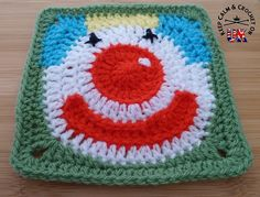 Jolly Clown Afghan Square Motif By Heather C Gibbs - Purchased Crochet Pattern - (ravelry)
