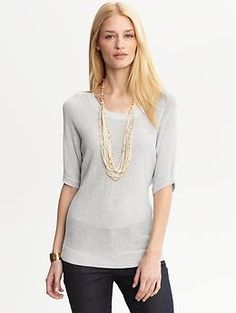 Heritage metallic dolman sweater | Banana Republic