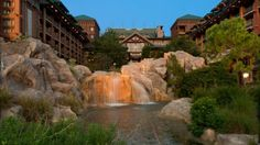 WILDERNESS LODGE Pros:Most affordable of the Deluxes, Beautiful at Christmas, Quick boat ride to MK, On-site child care available for kids ages 4-12, Can view Electrical Water Pageant, 50 minute specialty cruise Cons: Shared buses, Rooms are smaller and will only accommodate 4 people Tip: Request a room on a higher floor facing Magic Kingdom  Ideal for: Families of 4 or less who want the benefit of a Deluxe resort without paying top prices