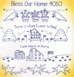 NEW Aunt Martha Designs - BLESS OUR HOME - Transfer Patterns