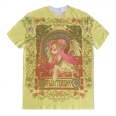 Fluttershy Nouveau Allover, men's size M (unless they start making it in women's sizes)