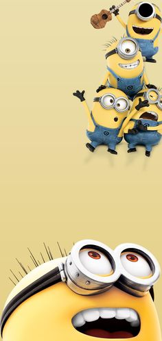 Band of Minions of Despicable Me by BlackBindy Galaxy Hole-Punch Wallpaper Cute Minions Wallpaper, Minion Wallpaper Iphone, Cartoon Wallpaper Hd, Kitty Wallpaper, Disney Wallpaper, Mobile Wallpaper, Samsung Wallpapers, Samsung Galaxy Wallpaper, Cute Wallpapers