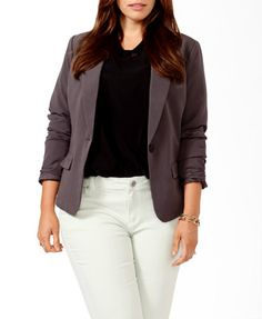 **Fitted Blazer | FOREVER 21 - 2027705182 #CL
