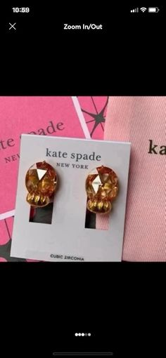"""Retail value: $68 These house cat earrings are designed using faceted jewels that shine extra beautifully when they catch light. They added a textured plated metal paw to the bottoms for a clever finishing touch. mix them with other studs or allow them to make a statement all on their own. Includes Kate Spade dust bag. MATERIAL: plated metal, cubic zirconia FEATURES: weight: 14.71g width: 0.5"""" total drop length: 0.87"""" At Two Red Birds we try to offer a wide range of jewelry styles. From bohemian Kate Spade Earrings, Cat Paws, Dust Bag, Studs, Clever, Fashion Jewelry, Retail, Delicate, Bohemian"""