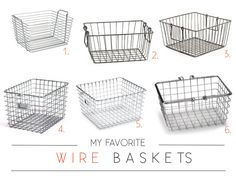 Street Design School: Wire Basket Round Up. I Freaking Love Wire Baskets.  Why Are They So Expensive ?