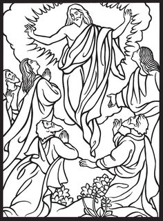 He Life Of Jesus Stained Glass Coloring Book Dover Publications