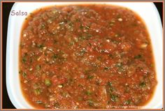 Salsa is a Mexican sauce. Mexican salsas were traditionally produced using the morter and pestle, although blenders are now more commonly used. There are many different types Salsas.