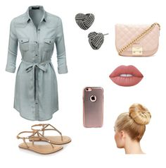 """""""Untitled #10"""" by shyterria-posey ❤ liked on Polyvore featuring LE3NO, Accessorize, Forever 21, Betsey Johnson and Lime Crime"""