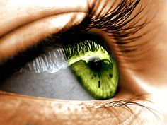 Ok, I know eyeballs creep me out, but this is the eye color I always wish I had. It is GORGEOUS. *swoon*