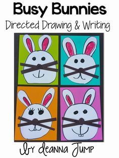Busy Bunnies Directed Drawing and Writing FREEBIE