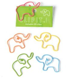 Cool School Supplies for Kids - Elephant Clips