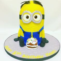 3d Birthday Cake, Unique Birthday Cakes, 3d Cakes, Creative Cakes, Type 3, Minions, Children, Kids, Birthdays