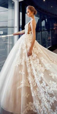 princess blush ball gown lace sleeveless with straps floral wedding dresses  salon versal db773ffc9ea1
