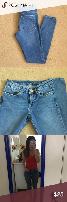 ASOS Ridley skinny jeans ASOS Ridley skinny jeans in carnation light stone wash sz W24 L29 ASOS Petite Jeans Skinny
