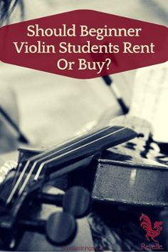 Should Beginner Violin Students Rent Or Buy? Parents often wonder whether they should rent the first violin or buy it for their emerging musician. The violin can be an expensive instrument. Plus, unlike a drum set or hockey gear, the violin is a delicate, precision instrument and even very subtle differences can influence its price in a major way. Some factors to consider: http://www.connollymusic.com/revelle/blog/should-beginner-violin-students-rent-or-buy @revellestrings