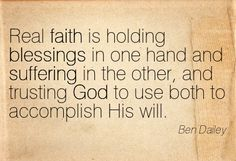 God uses blessings and sufferings [Ben Daley]