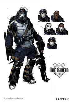 ArtStation - BRINK: The Shield, Laurel D Austin