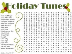 Two free printable Christmas word searches. The easy one is a snowman theme and the tougher one is holiday song titles. Holiday Words, Christmas Words, Christmas Music, Christmas Games, Holiday Song, Christmas Ideas, Xmas Games, Christmas Parties, Christmas Projects