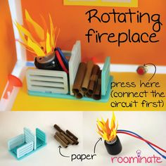 Roominate: Girl's Engineering Toy. Use the motor to make a rotating fireplace