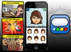 With Bitstrips share instant comic messages starring you and your friends l #fun #iphone #ipad #freeapp