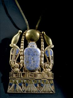 Scarab pectoral from the burial of Shoshenq II, 22nd Dynasty, c. 890 BC