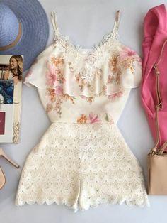 Blusa Claudiane - Estação Store Party Fashion, Look Fashion, Girl Fashion, Fashion Dresses, Womens Fashion, Classy Outfits, Cute Outfits, Look Con Short, Sexy White Dress