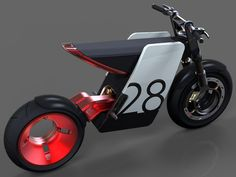 Electric Supermoto Concept Motorbike is a combo of both off-road motorcycle and road racing wheels. #motorbike #YankoDesign