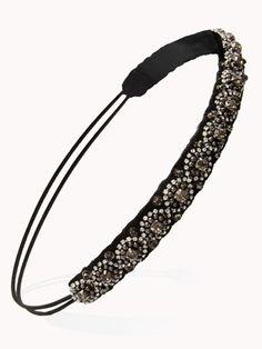 Black And Gold Beaded Headband