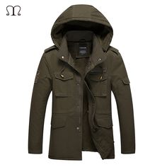 Winter Jacket Men Waterproof 2017 Brand Parka Men Clothing Zipper Cotton Padded Hooded Thick Quilted Jackets Coat Mens Hoodies