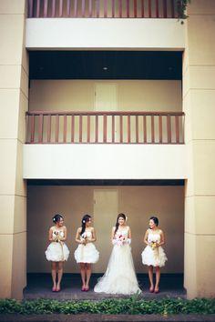 Bride and brides maid