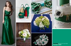 Emerald green wedding inspirations | Pantone's Color of the year for 2013