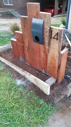Hardwood timber sleeper letterbox