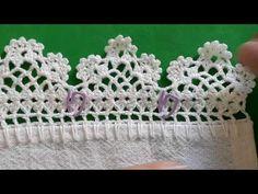 Crochet Lace Edging, Filet Crochet, Crochet Home, Silk Ribbon, Doilies, Crochet Earrings, Elsa, Crochet Dishcloths, Crochet Edging Patterns