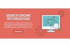 Search engine optimization banner. Business Infographic
