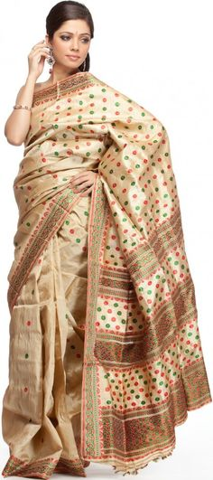 Pure Silk (Hand work all over) which is a traditional Assamese attire (Assam, North East, India) called as Mekhela Sador (or Chadar)