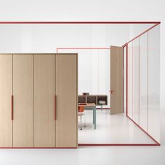 Hearsay, Lies and Office Interior Design Corporate Glass Partition - Home De. Corporate Interiors, Corporate Design, Office Interiors, Workplace Design, Design Commercial, Commercial Interiors, Glass Partition Designs, Office Fit Out, Red Office