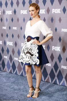 High glamour: January Jones in Disaya at FOX All-Star Party at the Fox Winter TCA on January 15, 2016