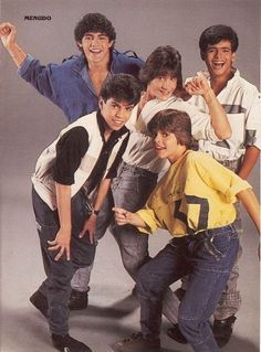 Menudo!! I was 5 when they were famous! The youngest menudo here was Ricky Martin!!