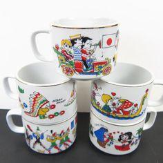 Vintage Hellerware Mugs Around the Worlds by AmbassadorGrooviness