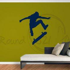Skateboard Decal For Walls - great for a boys room