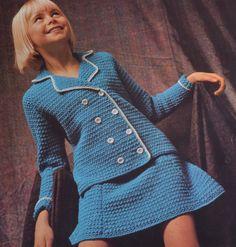 Vintage crochet suit