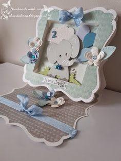 Marianne Design Cards, Handmade Baby, Handmade Cards, Baby Boy Cards, Punch Art Cards, Birth Records, Birthday Cards For Boys, Easel Cards, Cool Cards