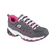Upgrade your classic style with the SKECHERS Encore - Be Seen shoe.  Smooth leather, synthetic and mesh fabric upper in a lace up athletic sporty training snea…