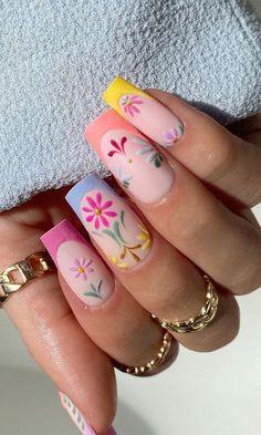 Acrylic Nail Art, Acrylic Nail Designs, Nail Art Designs, Gorgeous Nails, Pretty Nails, 3d Flower Nails, Strong Nails, Minimalist Nails, Nail Envy
